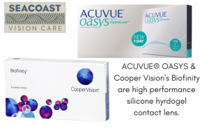 Acuvue Oasys and Coopervision Biofinity at Seacoast vision care